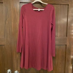 Burgundy T Shirt Dress